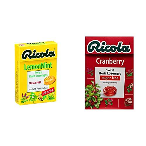 【セット買い】リコラ レモンミント ハーブキャンディ シュガーフリー 45g &  クランベリー ハーブキャンディ シュガーフリー 45g