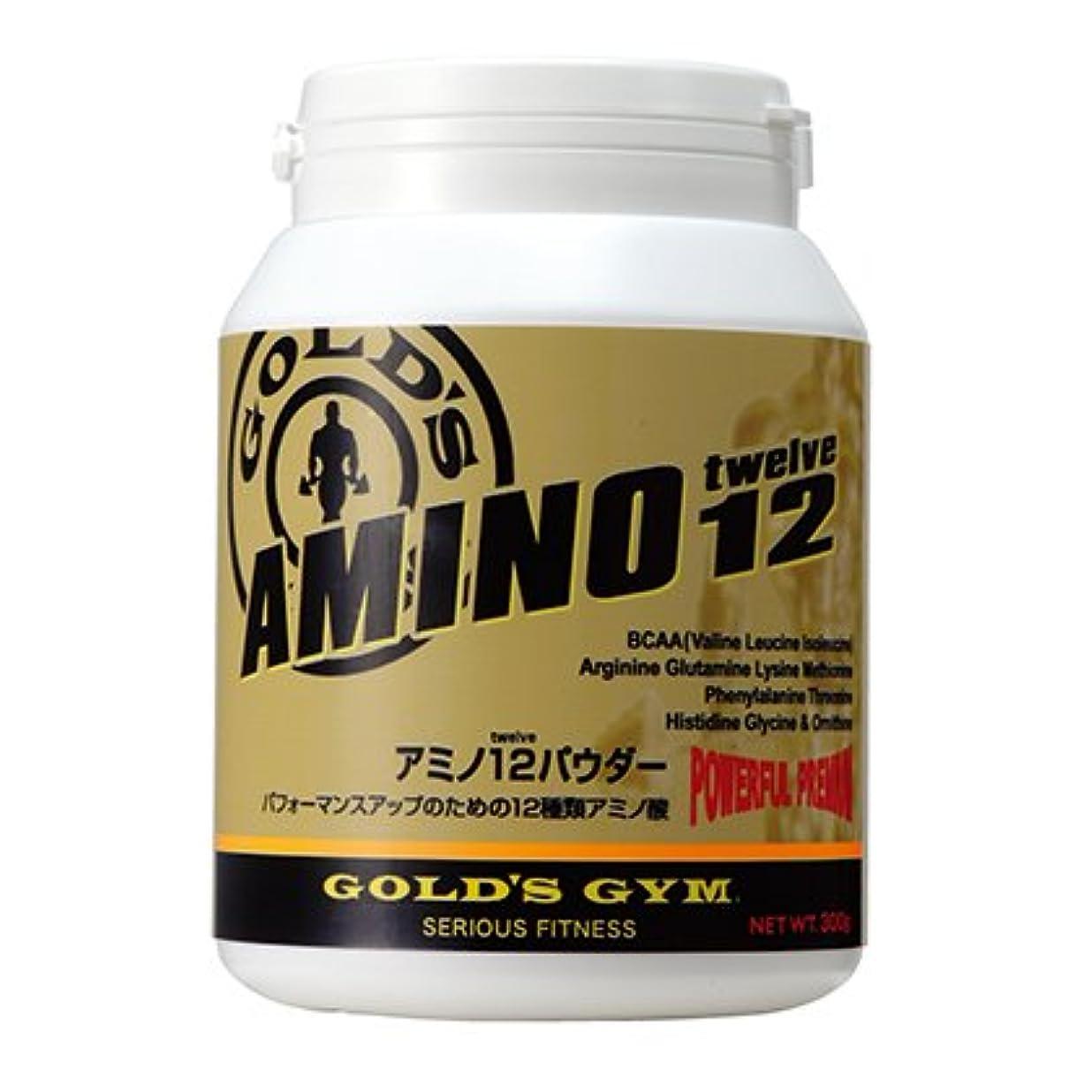ミネラル規制する運動する【GOLD`S GYM (ゴールドジム)】 アミノ12パウダー 300g