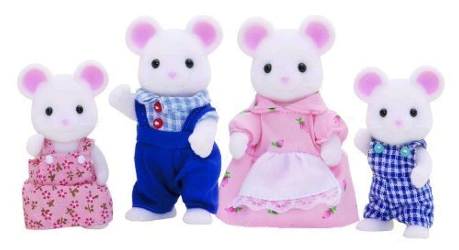 Epoch 3111 Sylvanian families - White mouse Family by Epoch [並行輸入品]