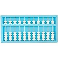 Tuersuer 早期子供用 おもちゃ 11ファイル 7ビーズ 学生 子供用 教育 アバカス プラスチック アバカス ブルー