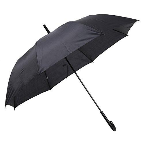 Wemitas 傘 大きい 長傘 強風で折れても大丈夫!すぐに元通り 風圧で壊れない傘 ECO 日本国内品質保証 (ブラック)