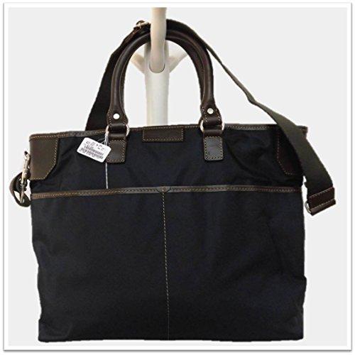 Massimo-G(マッシモG) 5559トートバッグ ネイビー色 ビジネスバッグ ブリーフケース イタリア製 軽いナイロン製 持ち手に本革使用