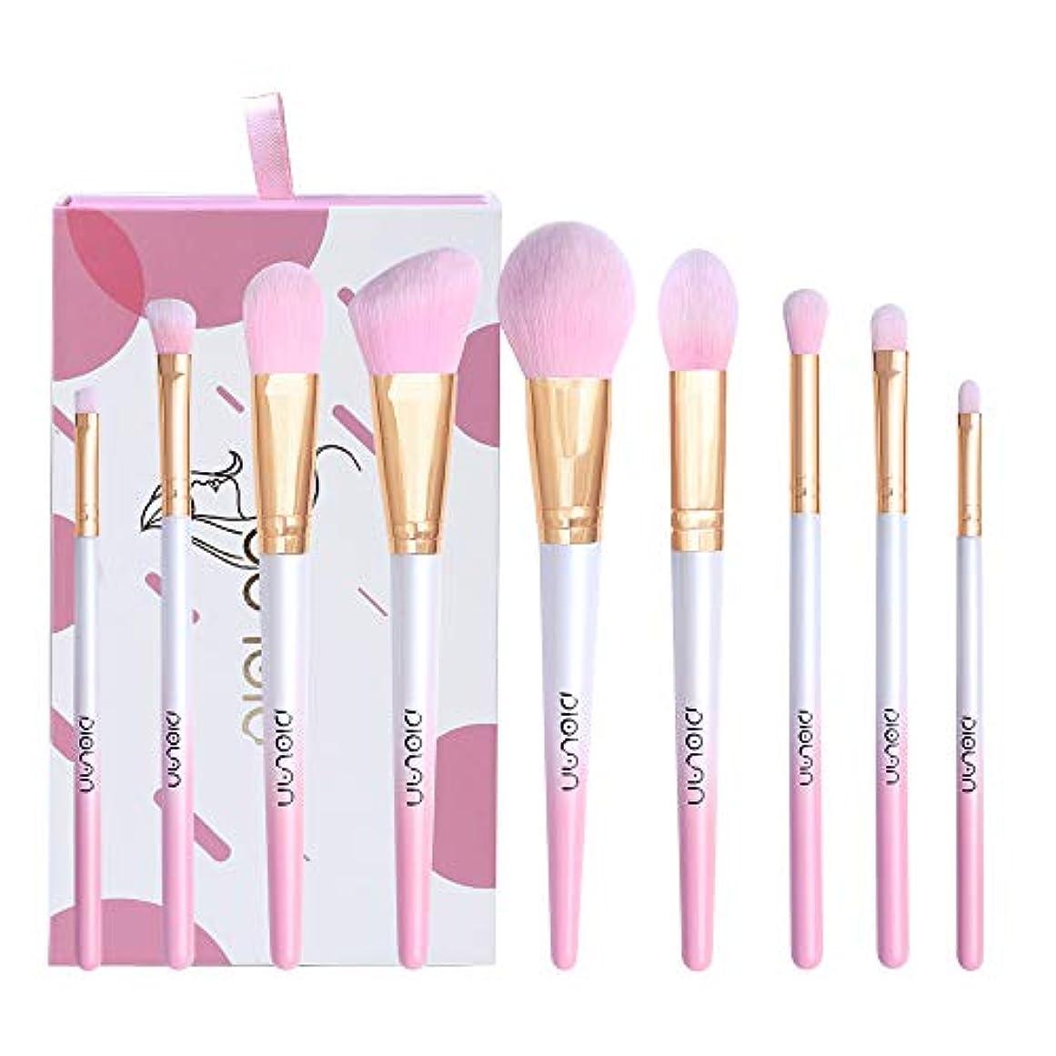 激怒スケルトントラフDiolan メイクブラシ 化粧ブラシセット 高級タクロン 超柔らかい 9本セット (桜のピンク)