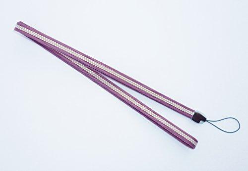 真田紐木綿袋紐3分巾 ネックストラップ(薄紫)