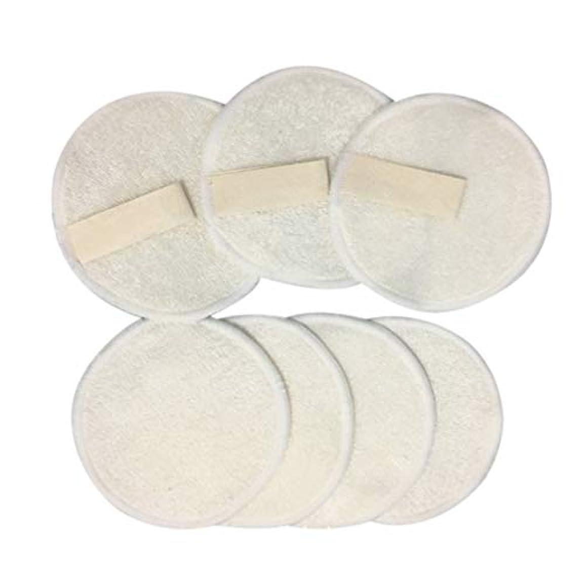 カイウス挽く肺炎Frcolor 10ピース 竹メイクリムーバーパッド 3層 再利用可能 綿 ラウンド パッドクレンジングワイプウォッシャブルクリーンスキンケア用女性