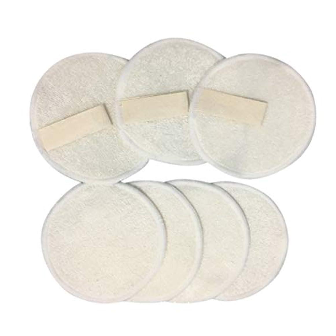 粘性の操る限られたFrcolor 10ピース 竹メイクリムーバーパッド 3層 再利用可能 綿 ラウンド パッドクレンジングワイプウォッシャブルクリーンスキンケア用女性