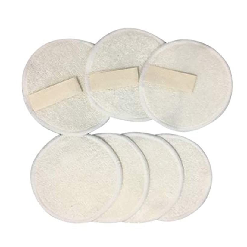 キッチン人口生きるFrcolor 10ピース 竹メイクリムーバーパッド 3層 再利用可能 綿 ラウンド パッドクレンジングワイプウォッシャブルクリーンスキンケア用女性