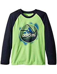 (アディダス) adidas キッズTシャツ Logo Sport Ball Tee (Little Kids) Neon Green 6 Little Kids (6歳) One Size