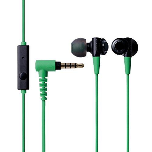 エレコム ステレオヘッドホンマイク  BLACK BLACK BLACK  グリーン EHP-CB100MGN  EHPCB100MGN