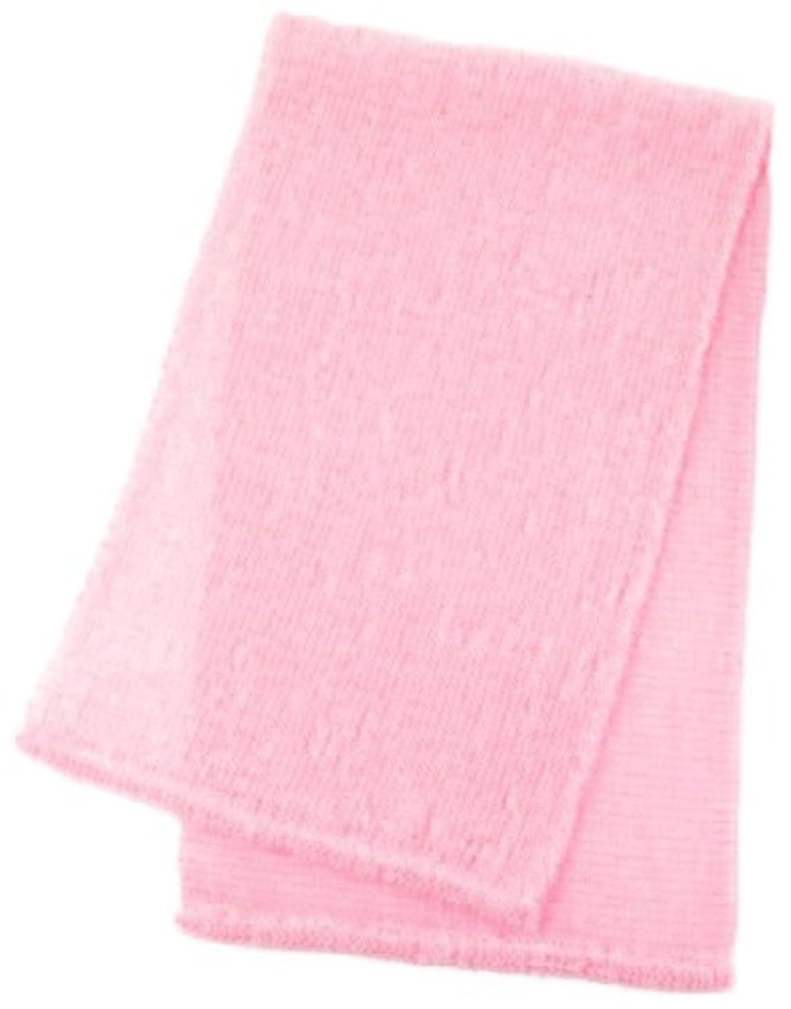 白内障閉じ込める猛烈なマーナ ボディタオル 「泡工場」 ピンク B557P