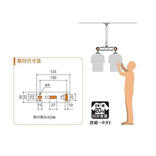 川口技研『軒天用物干しホスクリーン(ZP-107)』