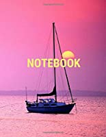 Notebook: Cute Lined  Notebook / Journal Gift, 120 Pages, 8,5x11, Soft Cover Ocean 2, Matte Finish