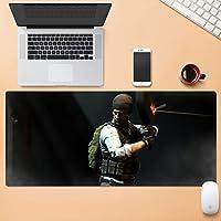 プロのゲーミングマウスパッド拡張サイズ大型コンピュータラップトップキーボードデスクマット付きステッチエッジ滑り止めラバーベース SYFO (Color : E, Size : 4mm)