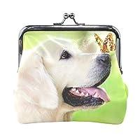 MIKA がま口 がまぐち 【小銭入れ】 コインケース 財布 サイフ さいふ レザー 犬 イヌ いぬ デザイン メンズ レディース 大容量 個性的 ギフト プレゼント おしゃれ かわいい こだわり 実用的 革小物