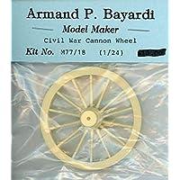 Armand P. Bayardi 1:24 Civil War キャノンホイール 樹脂製ジオラマアクセサリー #M77/18