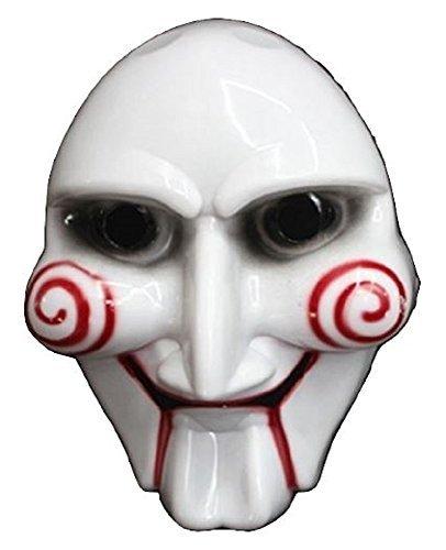 SAW-ソウ ビリー人形風 マスク お面 ジグソウ・キラー Jigsaw Killer ハロウィンや学園祭のお化け屋敷で皆を驚かそう! コスプレ衣装・コスチューム小道具・ホラー ジョークグッズ コレクション アイテム