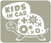 imoninn KIDS in car ステッカー 【マグネットタイプ】 No.53 カメさん (グレー色)