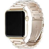 (イムス) Immsss Apple Watch用交換バンド 38 mm 42mm ステンレススチール製 メタル交換バンド Apple Watchシリーズ3シリーズ2シリーズ1スポーツと改訂版に対応