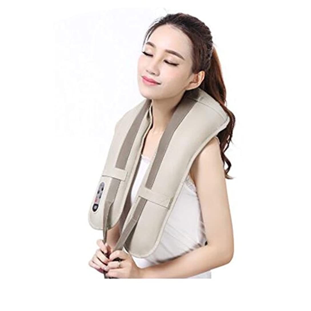 ガイダンス小道具驚かすホットネックマッサージャーポータブル電気パーカッション頸部マッサージショールの痛みの首と肩の多機能タップマッサージャー (色 : A)