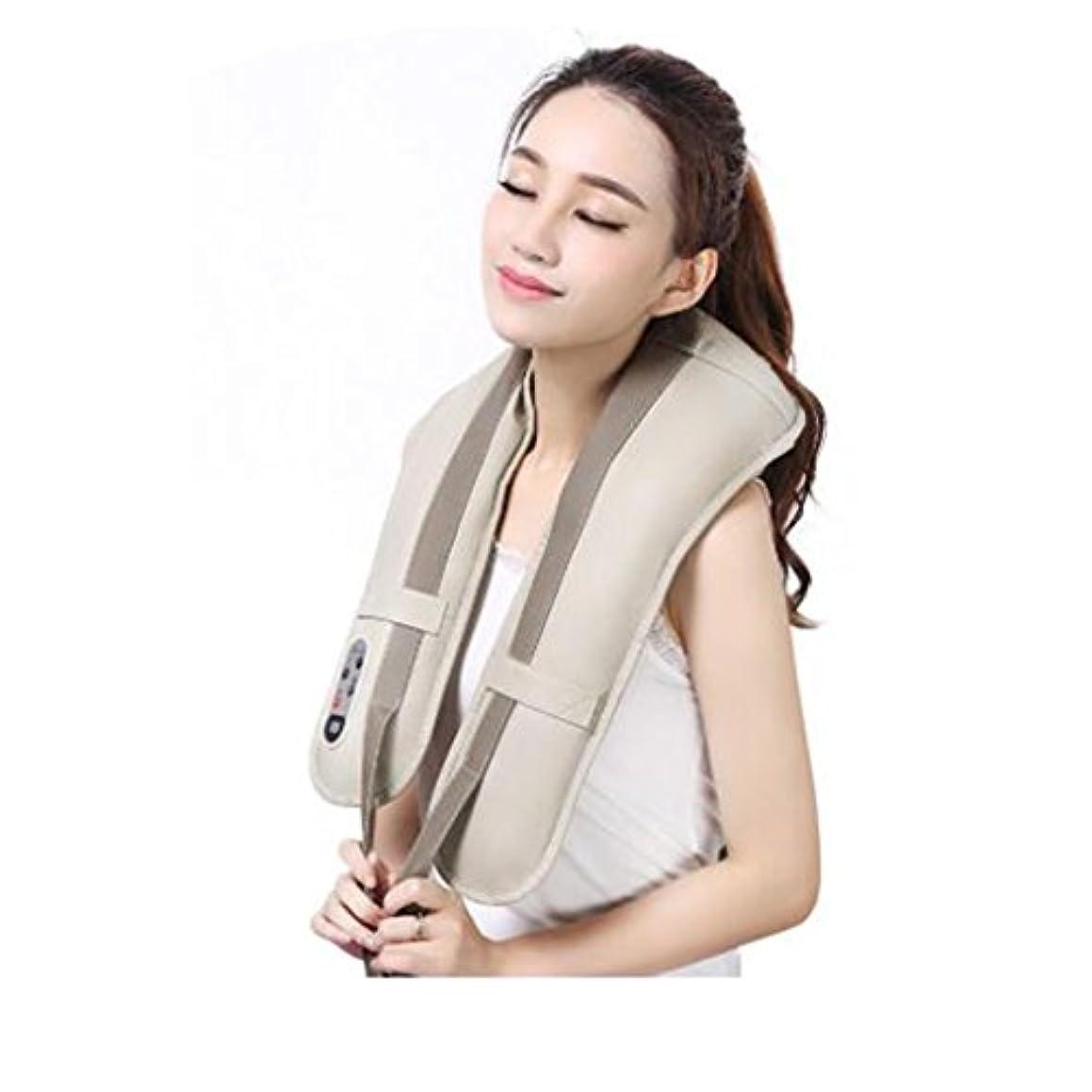 机ラグキノコホットネックマッサージャーポータブル電気パーカッション頸部マッサージショールの痛みの首と肩の多機能タップマッサージャー (色 : A)