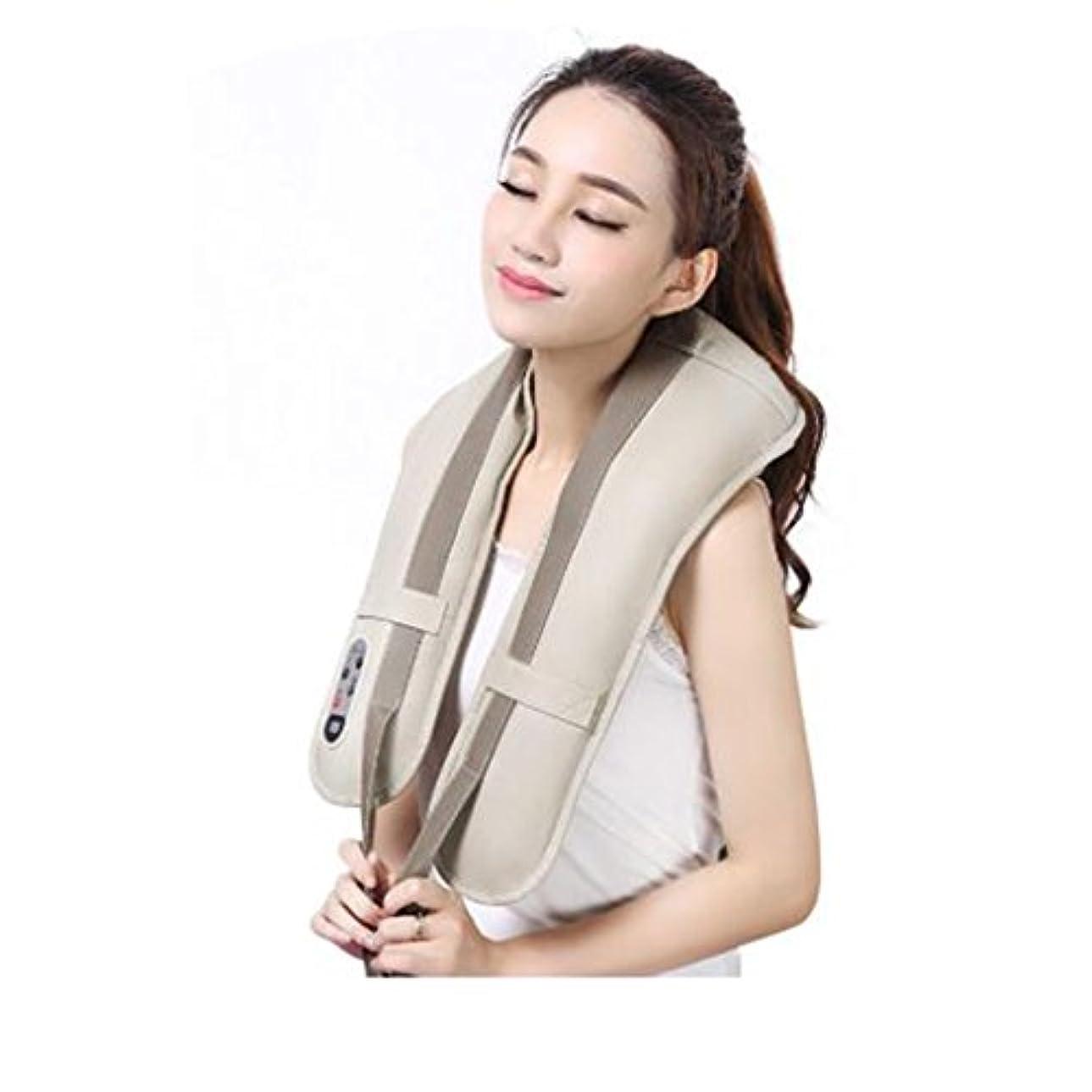 限界手変色するホットネックマッサージャーポータブル電気パーカッション頸部マッサージショールの痛みの首と肩の多機能タップマッサージャー (色 : A)