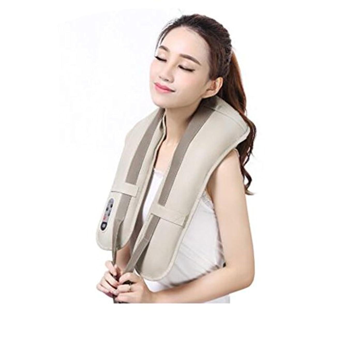 シャンプータワーポルノホットネックマッサージャーポータブル電気パーカッション頸部マッサージショールの痛みの首と肩の多機能タップマッサージャー (色 : A)