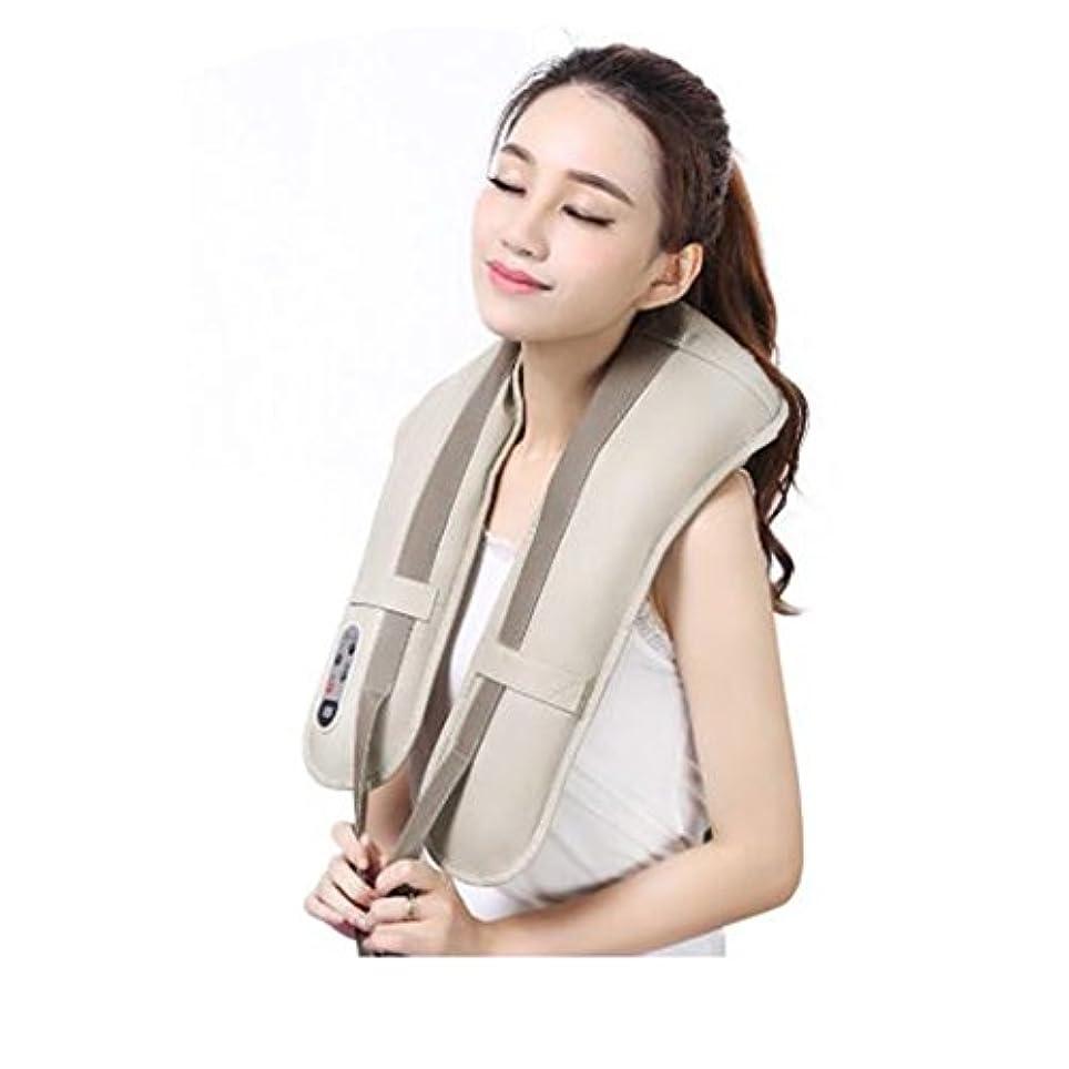 機関車繁栄するコーンホットネックマッサージャーポータブル電気パーカッション頸部マッサージショールの痛みの首と肩の多機能タップマッサージャー (色 : A)