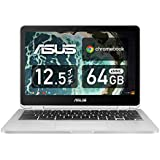ASUS ノートパソコン Chromebook C302CA 12.5型フルHD液晶 タッチ機能あり 日本語キーボード Core m3-6Y30 4GB eMMC 64GB 約10時間駆動 【日本正規代理店品】 C302CA-F6Y30/A シルバー