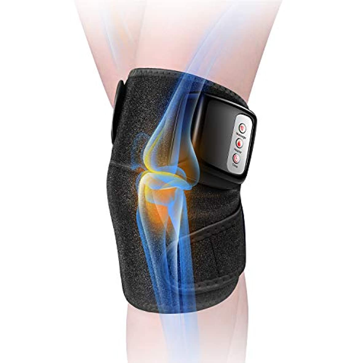 小道具小切手混沌膝マッサージャー 関節マッサージャー マッサージ器 フットマッサージャー 振動 赤外線療法 温熱療法 膝サポーター ストレス解消 肩 太もも/腕対応