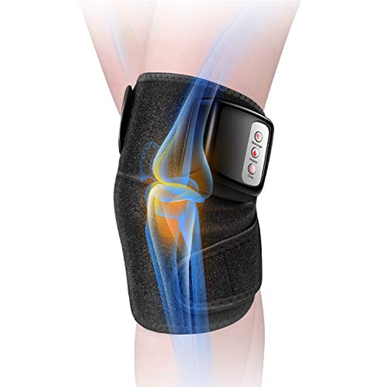 充実扱うお父さん膝マッサージャー 関節マッサージャー マッサージ器 フットマッサージャー 振動 赤外線療法 温熱療法 膝サポーター ストレス解消 肩 太もも/腕対応