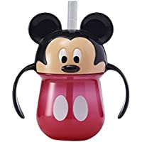 The First Years Disney Baby Trainer Straw Cup with Handles, Mickey by The First Years