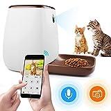 自動給餌器 ペットフード 犬猫用 一日12回給餌可能 自動えさ機 猫 スマホ遠隔操作 オートフィーダ 60秒録音機能 ペットカメラ 1080P 高画質 見守り 留守番 健康管理 iOS Android対応 日本語アプリ 日本語取扱説明書