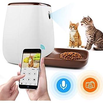 自動給餌器 ペットフード 犬猫用 一日12回給餌可能 自動えさやり機 猫 スマホ遠隔操作 オートフィーダ 60秒録音機能 ペットカメラ 見守り1080P 留守番 健康管理 iOS Android対応 1年間保証 日本語アプリ 日本語取扱説明書