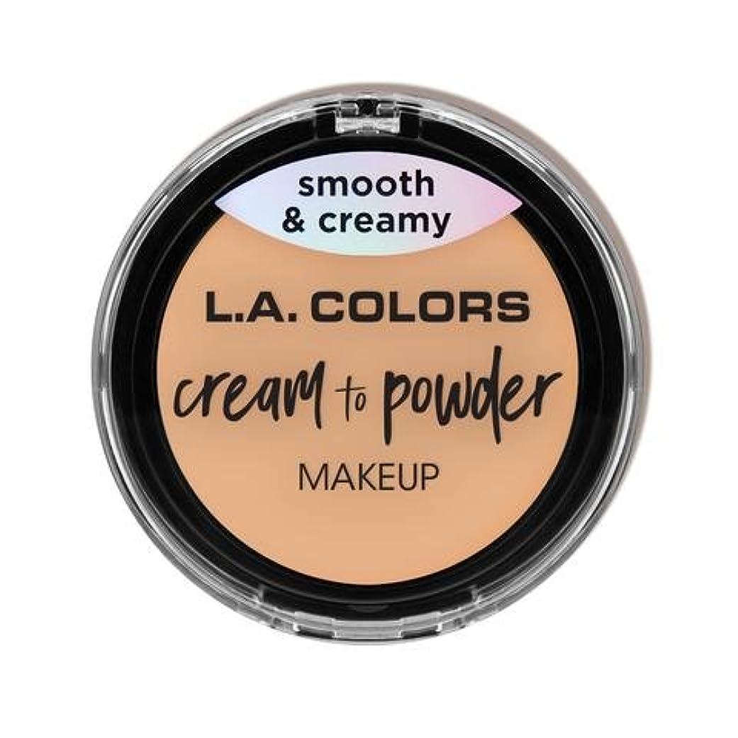 果てしないロデオスクラップ(3 Pack) L.A. COLORS Cream To Powder Foundation - Buff (並行輸入品)