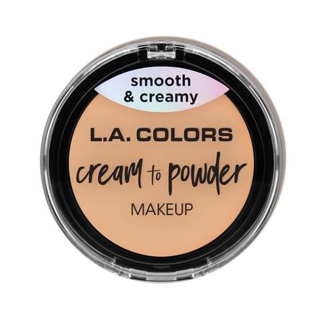 ばかげている重さ遺体安置所(3 Pack) L.A. COLORS Cream To Powder Foundation - Buff (並行輸入品)