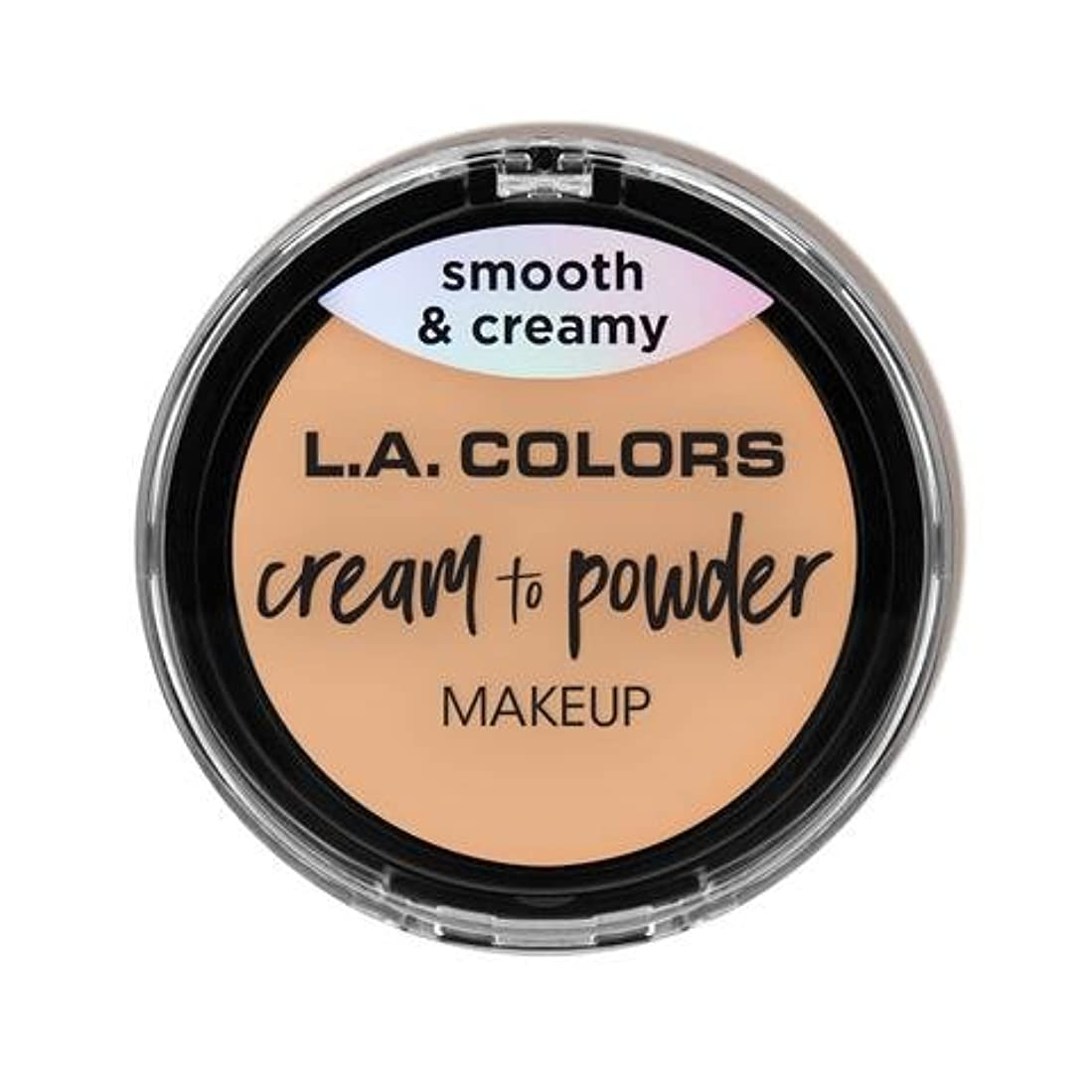 反応する破壊丈夫(3 Pack) L.A. COLORS Cream To Powder Foundation - Buff (並行輸入品)