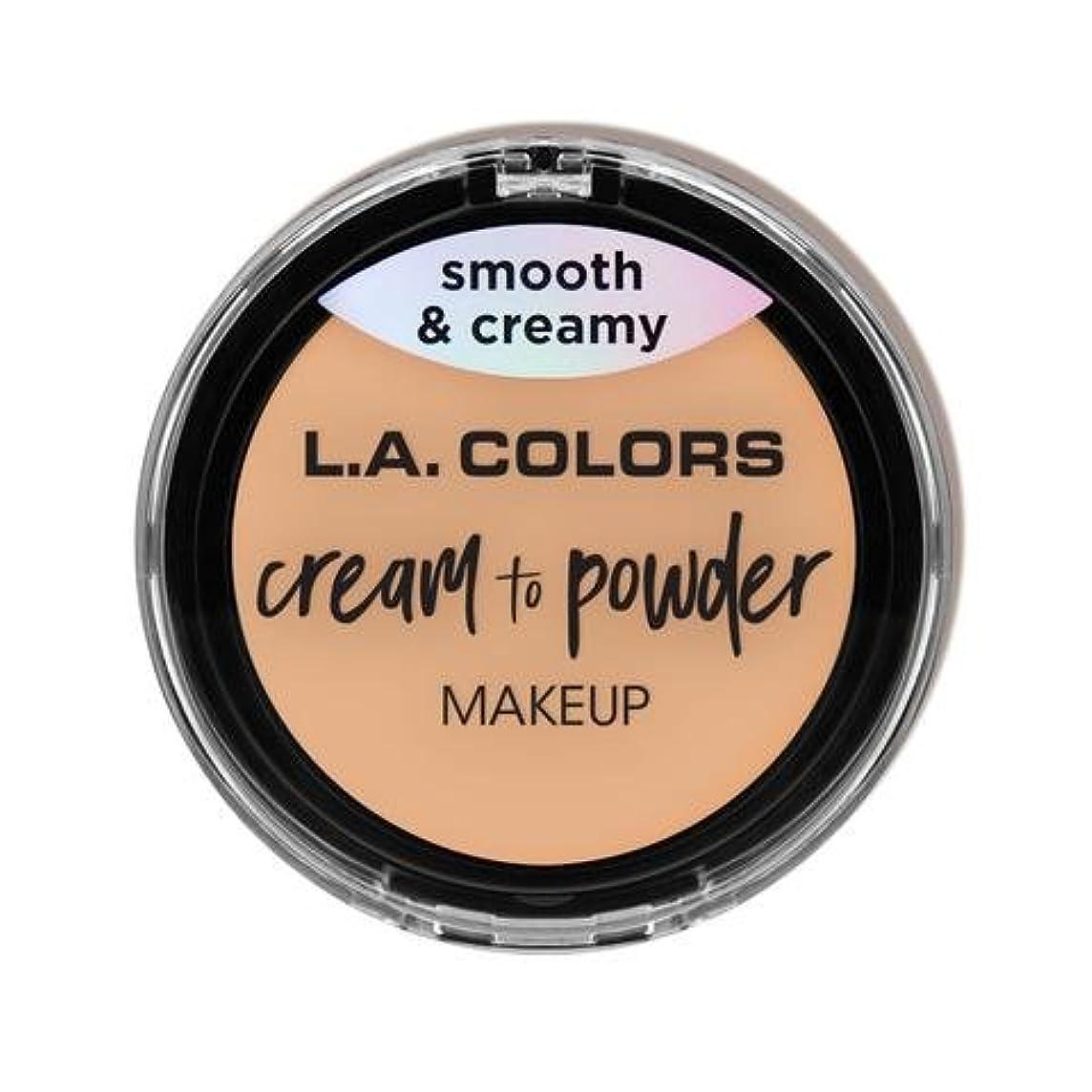 のみ小競り合い海峡(3 Pack) L.A. COLORS Cream To Powder Foundation - Buff (並行輸入品)