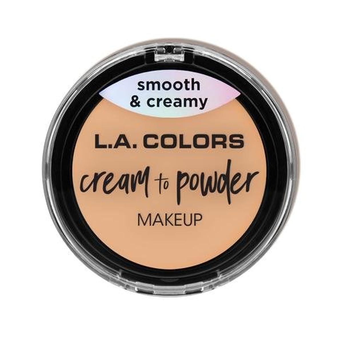 火薬ブリッジ戦争(3 Pack) L.A. COLORS Cream To Powder Foundation - Buff (並行輸入品)