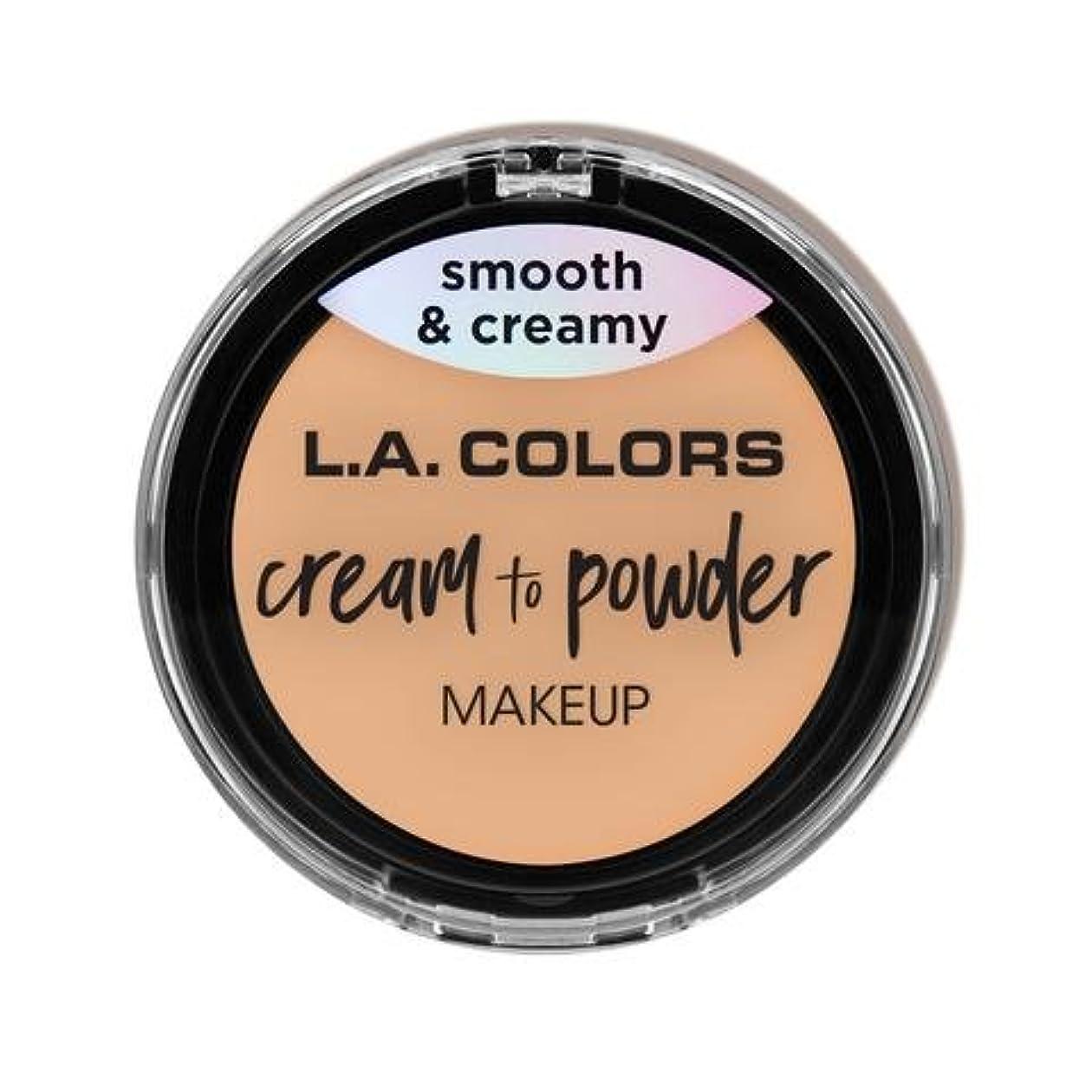 組み込む外部通訳(3 Pack) L.A. COLORS Cream To Powder Foundation - Buff (並行輸入品)
