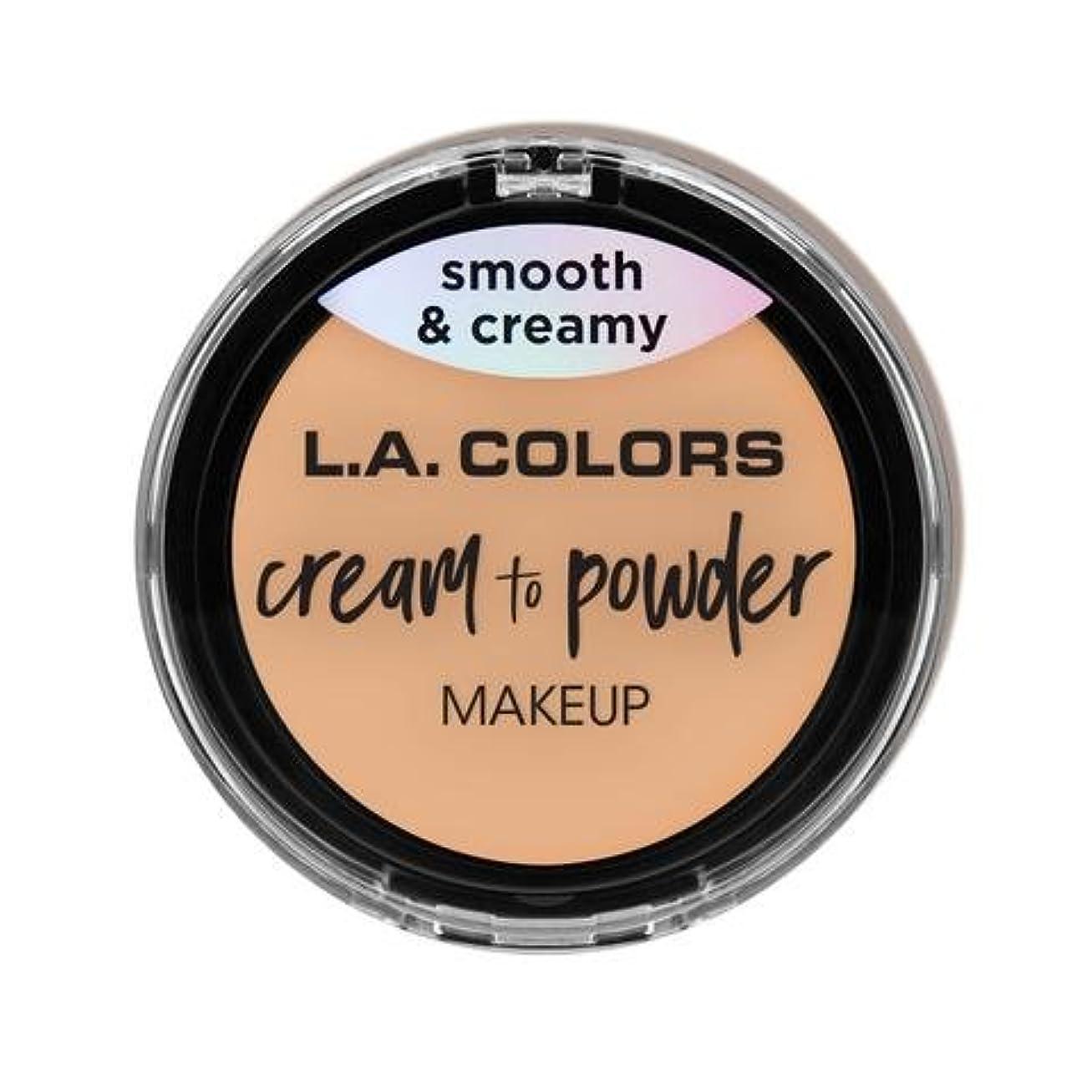 理容室トラップ親愛な(3 Pack) L.A. COLORS Cream To Powder Foundation - Buff (並行輸入品)