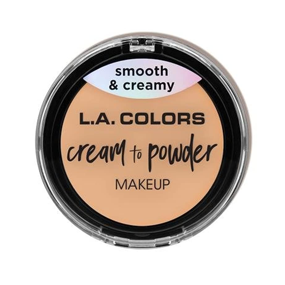 記念日同じたっぷり(3 Pack) L.A. COLORS Cream To Powder Foundation - Buff (並行輸入品)