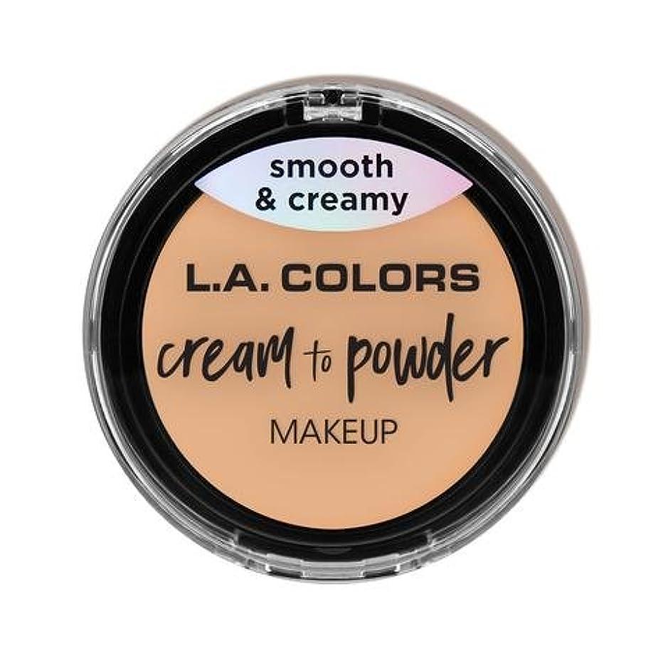 高く韻舗装(3 Pack) L.A. COLORS Cream To Powder Foundation - Buff (並行輸入品)
