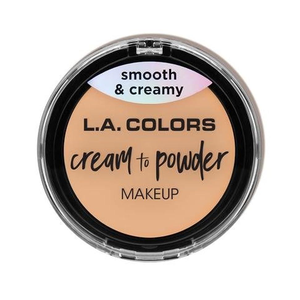 遺体安置所ガウン雑品(3 Pack) L.A. COLORS Cream To Powder Foundation - Buff (並行輸入品)
