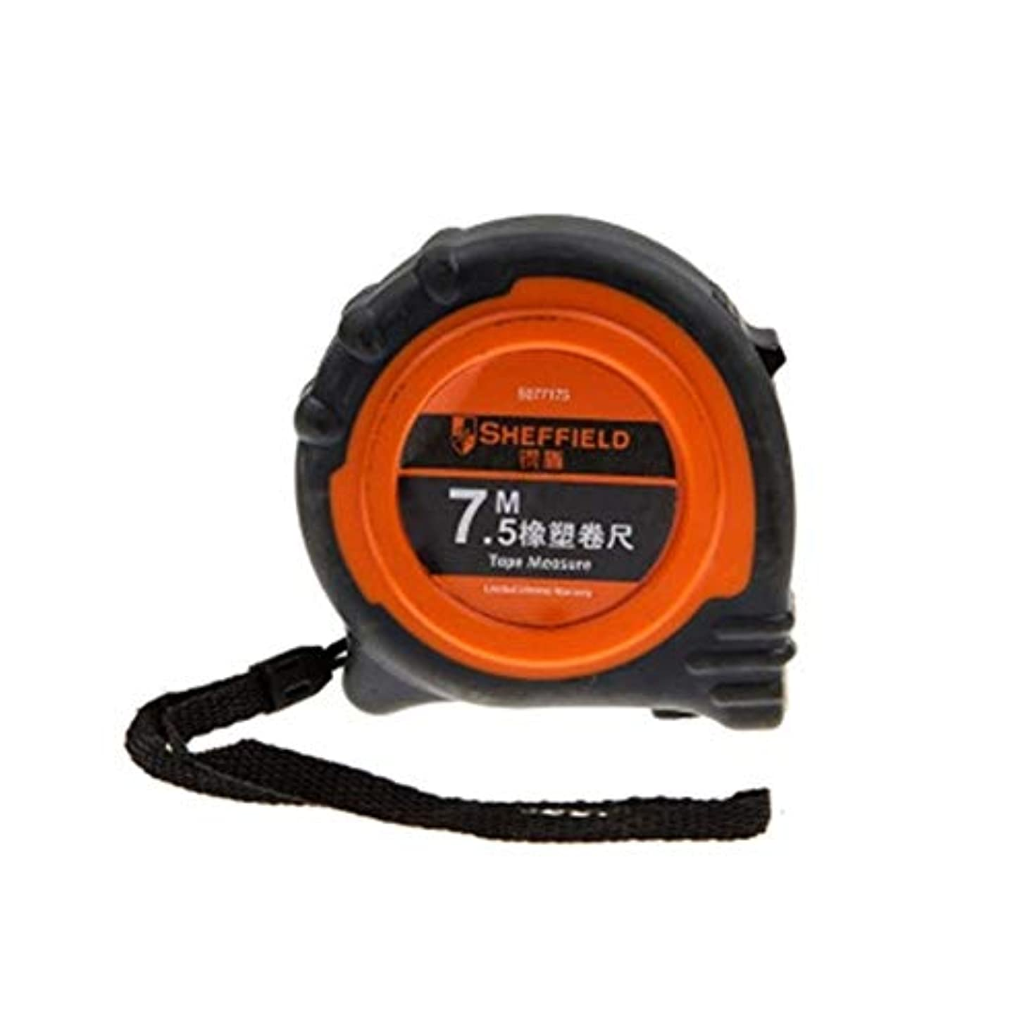 バースト黙リア王ZGSH オールインクルーシブゴムおよびゴムメトリックスチール巻き尺、測定ツール定規、3m、5m、7.5m、ブラック (Color : Black, Size : 5m)