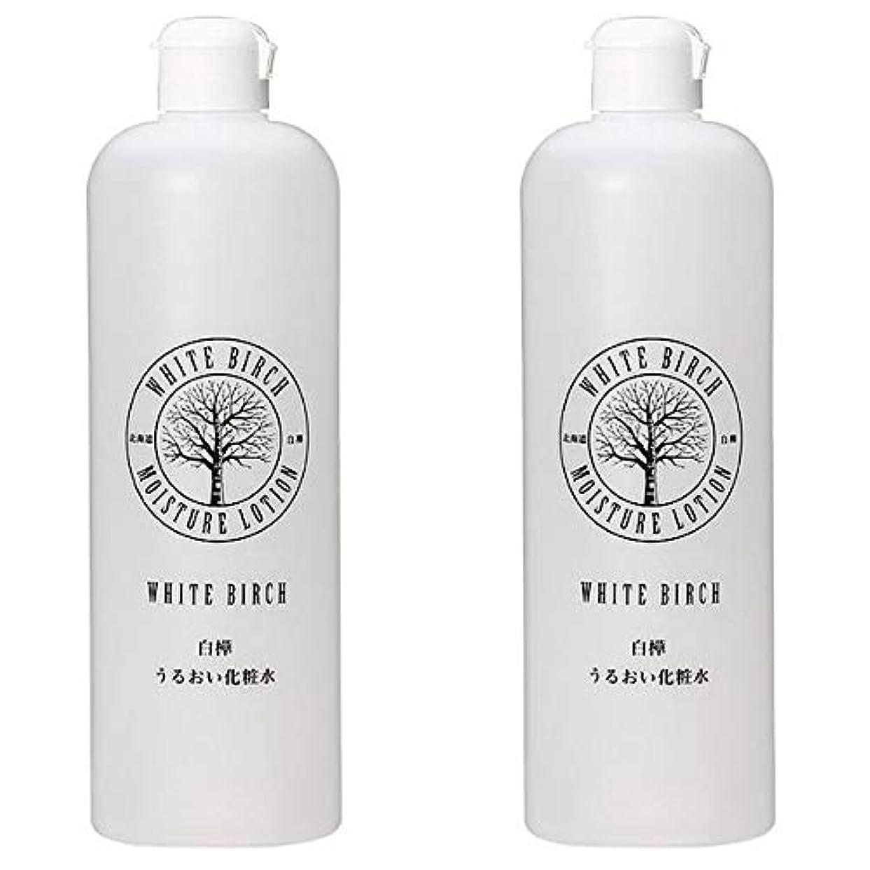 風邪をひくアルカトラズ島やる北海道アンソロポロジー 白樺うるおい化粧水 500mL 【2個セット】