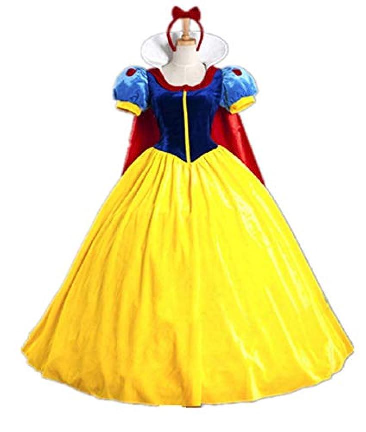 やけど未来おなじみの高人気3点セット【パニエ+ヘッドバンド 女王 仮装 コスチューム ドレス+ 】白雪姫 コスプレ 衣装 大人 ハロウィン仮装 変装 パーティー (XL)