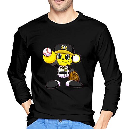阪神タイガース メンズ シャツ 長袖 野球Tシャツ 複数色の選択 野球服 上着 ジャージ トップス 丸首 カジュアル S-XXL 大きいサイズ ゆったり 男士