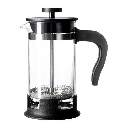 【IKEA/イケア】UPPHETTA コーヒー/ティー メーカー, ガラス, ステンレススチール