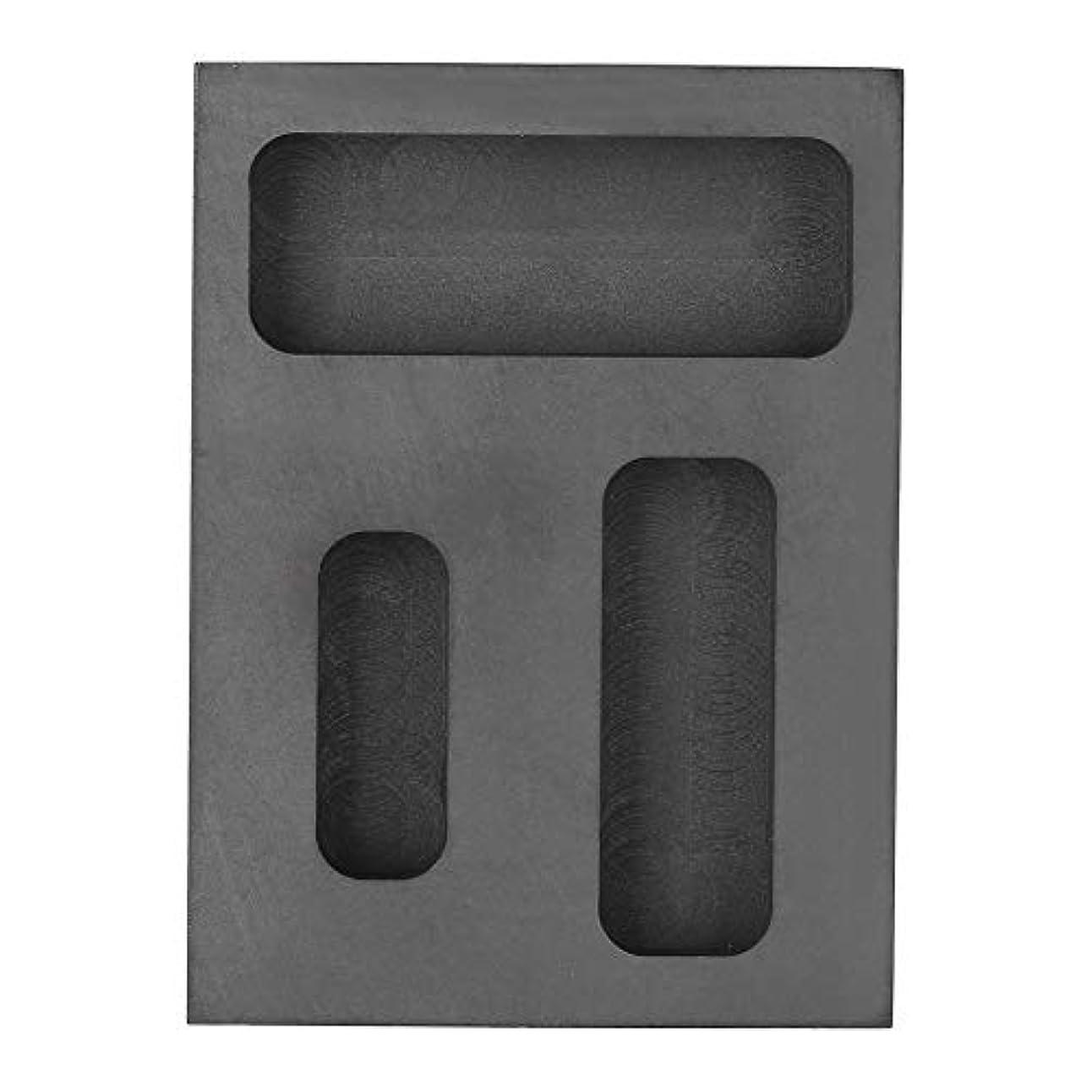 想像力豊かな床形グラファイト溶融金型、グラファイトるつぼインゴットトーチ溶融鋳造精錬スクラップバーコンボ金型用ゴールドシルバーアルミ溶融鋳造精錬金属ジュエリー
