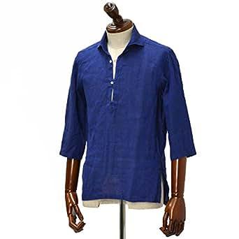 Mario Muscariello【マリオムスカリエッロ】 カプリシャツ R2MC0147 リネン ブルー(L)